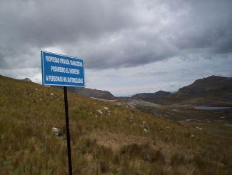 Yanachocha do not trespass